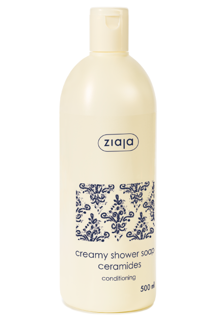 creamy shower soap with ceramides