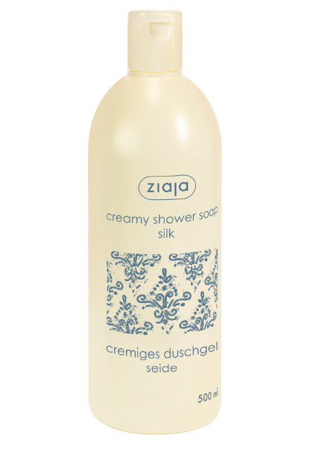 creamy shower soap with silk proteins