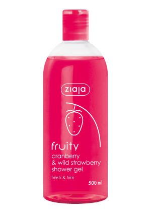 cranberry & wild strawberry shower gel